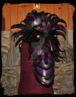 Crow  leather Pauldron 1 by Lagueuse