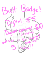[YCH] NEW AND IMPROVED Butt Badges [CLOSED] by CassMutt