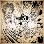 The infamous Fujin and Raijin by schonheit