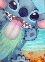 ACEO 10: Stitch by GarnetWeavile461