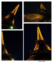 Eiffel tower-night by SeiMissTake
