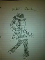 Nikki drew me as Freddy's daughter by EiraCandles