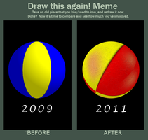 Juggling Ball Before and After by he4rty