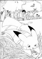 Catch That Pikachu / Viridan Forest by KikiFlamer