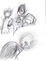 CSGRPG fight scene sketchdumps by pallaza