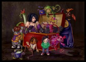 joanna and her puppets by macarious