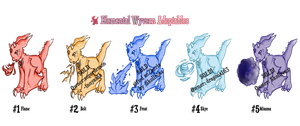 Baby Wyvern Adoptables for SALE[OPEN] by SeraphEnigma23