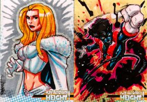 White Queen and Nightcrawler by RAHeight2002-2012
