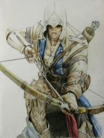 Assassins Creed 3 - Connor by Pencilsketches