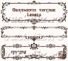Ornaments vintage Lebels design LZ by Lyotta