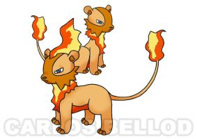Lionash. The fire lion. by Dziesma