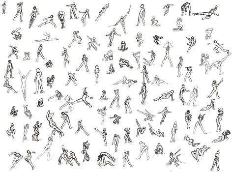 100 Poses by SamusFairchild
