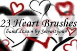 Heart Doodle Brushes by SereneBrushes