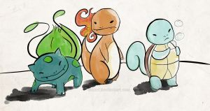 Starters from Okami by ditto9