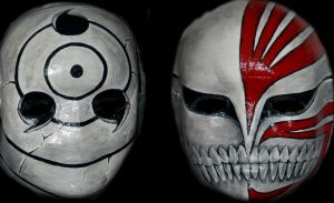 Obito Mask and Ichigo Hollow Mask by hawthehaw