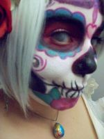 First Day of the Dead makeup by Kabuki-Bunny