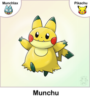 Munchlax + Pikachu Fusion by Twime777