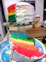 Rainbow Layer Cake :D by soyrwoo