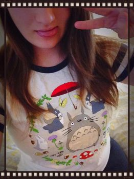 Old School Cool Totoro Shirt by Pin-eye