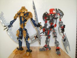 Brutaka and Maxilos by BioMutt70