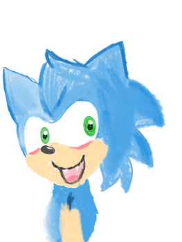 Sonic Pastel Doodle by Count-Toon