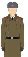 Red Army Artilley Soldier in Battle-greatcoat. by bar27262