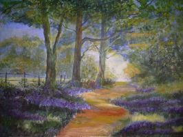 Bluebell Painting by i77310