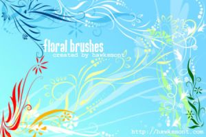 Floral brushes by hawksmont