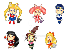 Sailor Moon Chibis by Niarahime