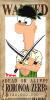 Phineas and Ferb + One Piece - Zerb by Diovos