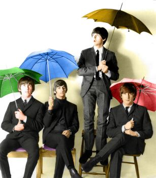 The Beatles Colourized by nyponbuske