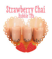 Strawberry Milkshake Bubble Tea - Vegan by ponychops