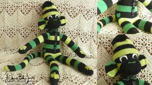 First Sock Monkey by FamiliarOddlings