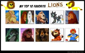 My Top 10 Favourite Lions by DracoCharizard87