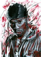 50 cent by paint by maddrawings