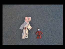 Card man fights dice man stopmotion by MrSparkles10
