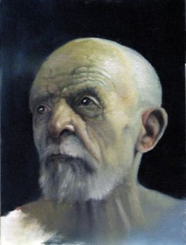Small Oil Painting of an Old Man by Engy27