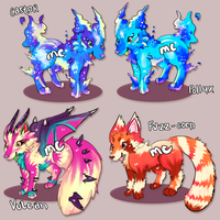 Hybrid Wolf Auctions [CLOSED] by melonycreations