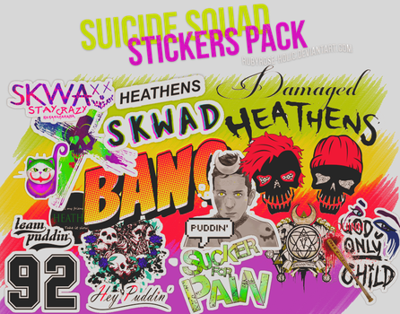 Suicide Squad Stickers by Lilith-Trash