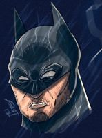 Batman Digital Sketch by geogant