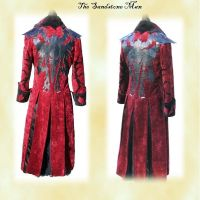 Gothic red velvet frock coat by TheSandstoneMan