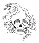 Snake,Skull and Roses by buzujima