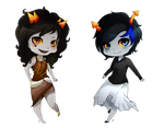 Commission: Corona and Saesha by Meri-the-Changeling