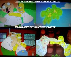 Homer Simpson vs. Peter Griffin! by Angelgirl10