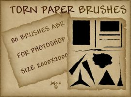 Torn paper brushes by jojo-ojoj