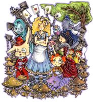 Alice in Shroom Land by ohmonah