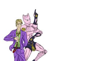Yoshikage Kira and Killer Queen by 9999DamagePoints