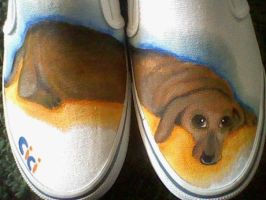 Cici the Dachshund shoes by Lemguin