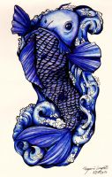Koi Tattoo Concept Finished by GinnieGii