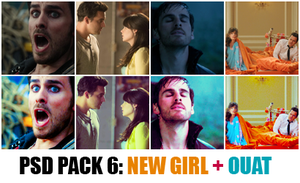 PSD 72 - NEW GIRL + ONCE UPON A TIME by Tatjash